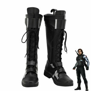Captain America The Winter Soldier Bucky Barnes Shoes Cosplay Men Boots