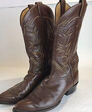 Vintage Tony Lama Black Label 6284 Brown Leather Boots 10