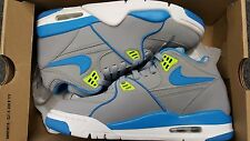 Nike AIR FLIGHT 89 STEALTH NEPTUNE BLUE Sz 7 ACTION GREEN WHITE 306252-030