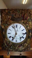 Ancien mouvement d'horloge comtoise 3 Aiguilles