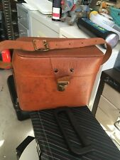 Vintage Leather Camera Case Bag Made In England