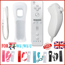 Nuevo Controlador Remoto Nunchuck para Nintendo Wii + Funda de silicona