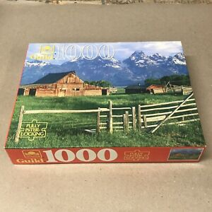 Vintage Golden Guild 1000 Piece Jigsaw Puzzle Farm Barn Mountains New Sealed