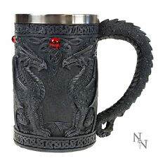 BLACK WING DRAGO TANKARD 14,5 cm di altezza Gotico Fantasy Nemesis Now