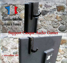 Support Casque Cintre attache GAMER PC Moniteur Stand Présentoir Headset + 3M