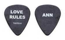 Heart Ann Wilson Signature Love Rules Black Guitar Pick - 2006 Tour