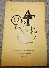 1982 83 Delta Gamma Salt Lake City Utah Membership Directory