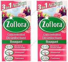 2x ZOFLORA 2x56ml ANTIBACTERIAL DISINFECTANT KILLS ODOURS CONCENTRATE - BOUQUET