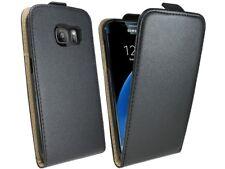 Handy Tasche Hülle Case Schutz Etui in Schwarz für Samsung Galaxy S7 G930F @COFI