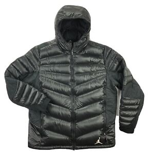 Nike Jordan Hyperply 700 Goose Down Puffer Jacket Mens XL Black Hooded