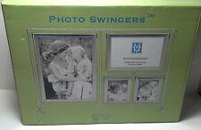 """Market Vision """"Photo Swingers"""" Frame Pewter Finish frame. 8 photos"""