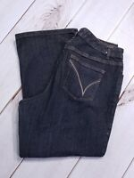 "Lane Bryant Venezia Size Jeans Size 2 Inseam 27"" Average Stretch Bootcut Dark"