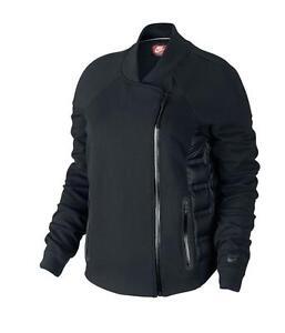 NWT Nike Size S & M Tech Fleece Aeroloft Short Moto Jacket Black $250