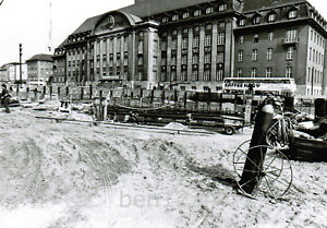 U-Bahn Berlin Bau des Bahnhofs Rathaus Spandau 3 Fotos 1979