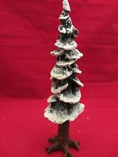 "Dept 56   VILLAGE POLE PINE TREE Cold Cast 10.5"" Heritage #55298 (117&817B)"