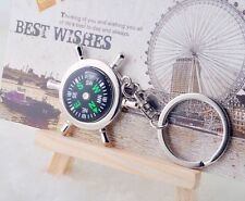 Portable Metal Camping Sport Hike Mini Rudder Keychain Compass Ring Outdoor