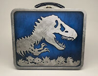 2015 Jurassic World Metal Lunchbox Jurassic Park Universal Raptors Blue
