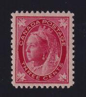Canada Sc #69 (1898) 3c carmine Maple Leaf Mint VF NH MNH