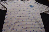 Akademiks Gray Stripe Polo XXL  Short Sleeve Men's Shirt