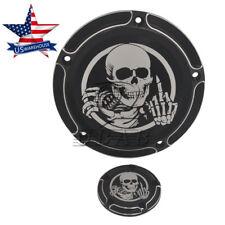 Derby Timer Skull Mid Finger Cover for Harley FLHT FLTR FLHR FXSB FLSTSB US