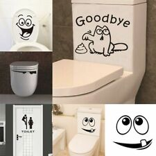 Home Sticker Wall Decals Toilet Seat Bathroom Window Decoration Vinyl Wallpaper