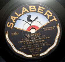 "ROGER BOULME cello Saint-Saens & Braga france french salabert 3203 10"" 78 rpm"