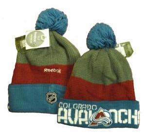 New Colorado Avalanche Mens Size OSFA Reebok Cuffed Knit Beanie Hat $25
