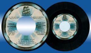 Philippines STEVIE WONDER Saturn 45 rpm Record