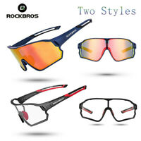 ROCKBROS Cycling Polarized Bike Glasses Photochromatic Goggle Eyewear Sunglasses