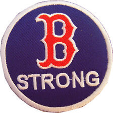 MLB Boston Red Sox, B Strong logo embroidered iron on patch. 3 inch (i158)