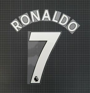 RONALDO #7 2017-2022 Player Size Premier League White Nameset Plastic