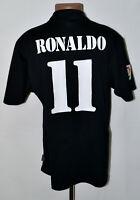 REAL MADRID SPAIN 2002/2003 AWAY FOOTBALL SHIRT ADIDAS RONALDO #11 SIZE L ADULT