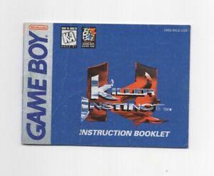 Killer Instinct Nintendo Original Game-Boy MANUAL INSERT ONLY Light Wear