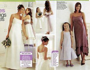 Beautiful WEDDING DRESS Empire Line Train Prima Sewing Pattern 10 12 14 16 18