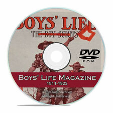 Vintage Boys Life Magazine, (Boy Scouts) 1911-1922, 140 old issues, CD  DVD V63