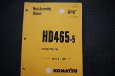KOMATSU HD465-5 DUMP TRUCK FIELD ASSEMBLY Service Manual BOOK SHOP 1998