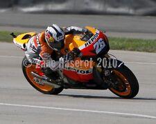 Dani Pedrosa 2010 8x10 Honda Indianapolis MotoGP photo