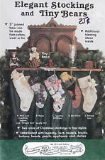 "Gooseberry Hill Victorian Christmas Stocking Pattern & 5"" teddy bear jointed"