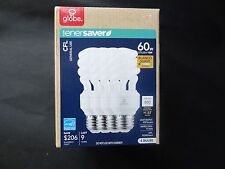 Globe EnerSaver 13W/60W CFL 2700k Bulbs Soft White (4 CFL Pack)