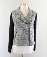 41 Hawthorn Stitch Fix Gray Black Metallic Tweed Asymmetric Zip Jacket Size S
