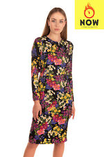 RRP €1695 DOLCE & GABBANA Pencil Dress Size 42 S Silk Blend Floral Made in Italy