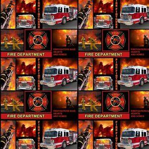 Firefighter Patchwork Blocks-Sykel Enterprises-BTY