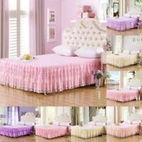 Lace Bed Skirt  Bedspread Bedding Sheets Princess Single Double King Size Sheet