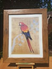PARROT BY SIMON MENZIES QUITE LARGE PICTURE PRINT