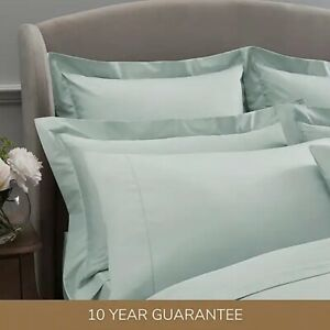 Dorma 300 Thread Count 100% Cotton Sateen Plain Pillow Cases - Sold Separately
