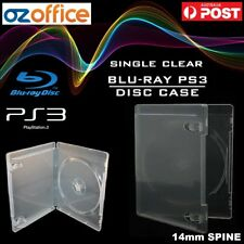 PREMIUM Blu Ray Case - PS3 Case SINGLE CLEAR Blu-Ray Cover PS3 Covers