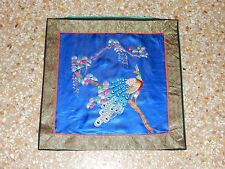 Antique Chinese Hand Embroidery Silk Wall Hanging Tapestry/Panel 41X41cm (X166)