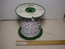 Storm 20 awg PTFE hookup wire MIL-W-16878/4 19 strand Type E White with purple