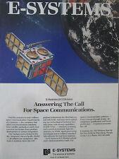11/1989 PUB E-SYSTEMS ECI MILITARY SPACE COMMUNICATONS MILSTAR SATELLITE AD