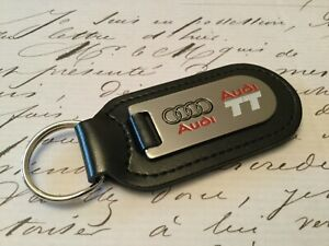 AUDI TT Key Ring Etched and infilled On Leather
